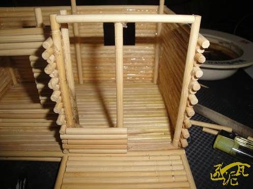 一次性筷子手工制作小木屋diy图片教程