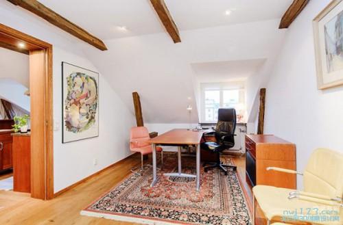 110平方米现代美式三居室阁楼家庭装修效果图案例